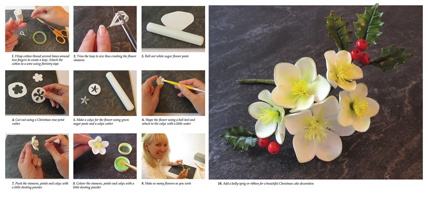 Sugarcraft Christmas Roses - The Bay Magazine Swansea